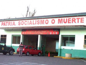 """Fatherland, socialism or death"" - the ubiquitous slogan for Chávez's ""bolivarian revolution"""