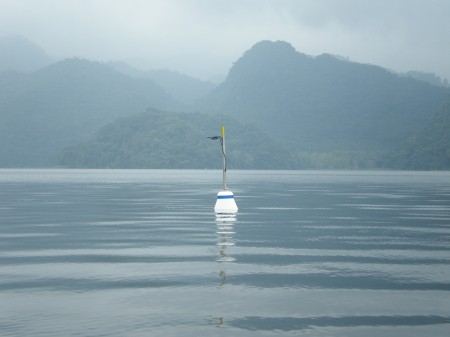 The LogDator Buoy, from Lindorm, Inc., in Lago de Yojoa, Honduras.