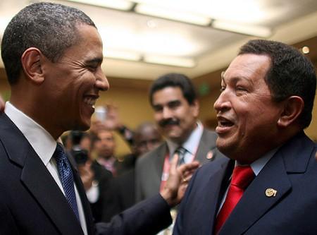 Obama and Chavez.