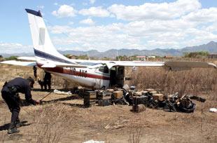 Knarkflygplan i Honduras.