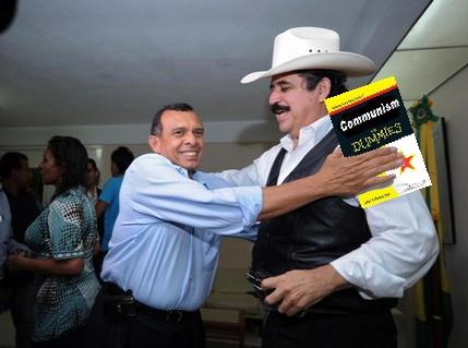Pepe Lobo och Mel Zelaya är inte bara kompisar, de verkar också ha liknande intressen.