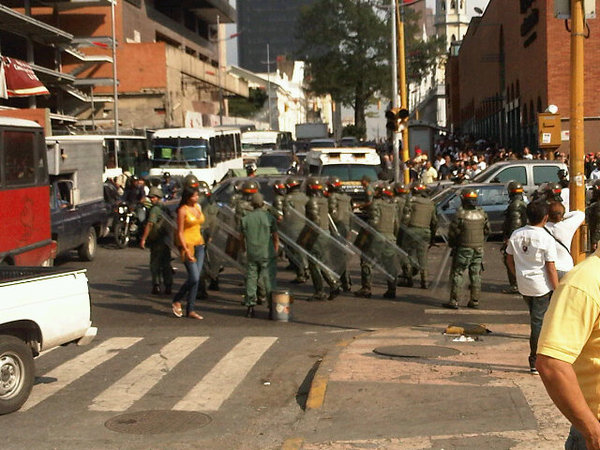 Riot police have just been sent out in Caracas.