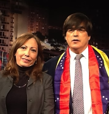 Ana Diaz and Jaime Bayly