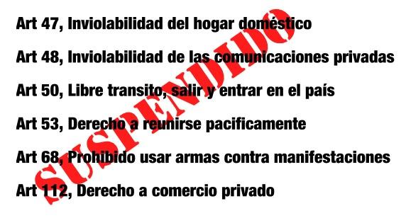 Estado de excepcion Tachira